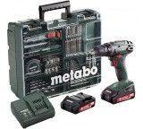 Аккумуляторный винтоверт METABO BS 18 с набором оснастки 602207880